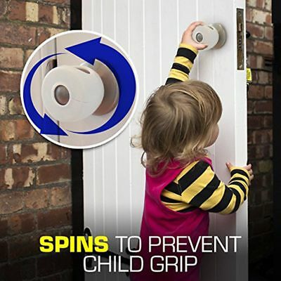 4 Pack Grip N Twist Round Door Knob Covers Keeps Kids Out