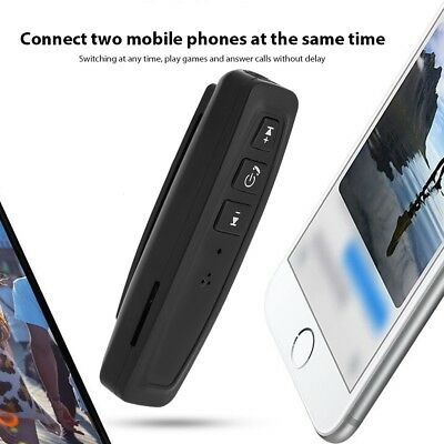 Mini Wireless Bluetooth Car Kit AUX Audio Receiver Hands-free 3.5mm Jack TF New
