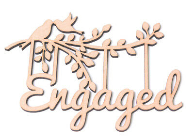 Wooden MDF Tree Branch Shape Engaged Frame Gift for Engagement Engaged