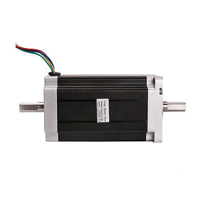 CNC Stepper Motor Nema34 1600oz.in 151MM 57BYGH Dual Shaft 3.5A 4WIRES LONGS
