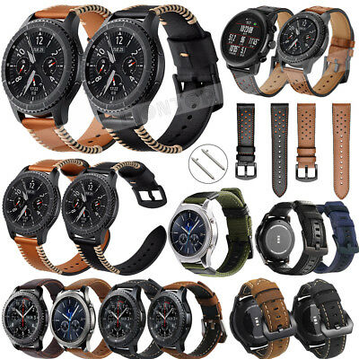 Leather Wrist Band Watch Strap Bracelet Band for Samsung Galaxy Watch 42mm 46mm
