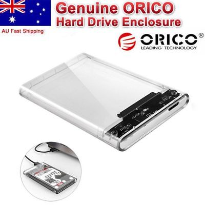 "ORICO 2139U3 USB 3.0 Transparent 2.5"" SATA SSD HDD Hard Drive Enclosure Case DN"