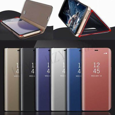 Clear View Mirror Leather Flip Wallet Stand Case Cover For Samsung Galaxy NOTEDN