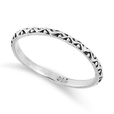 NEW 925 Solid Sterling Silver Celtic Waved  Dot ring in Sizes G-Z /20 Diff Sizes