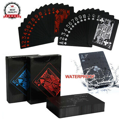 Creative Deck Black Waterproof PVC Poker Magic Table Plastic Game Playing Cards