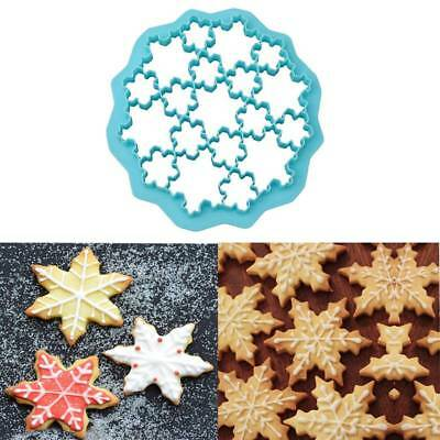 19 Lattice Snowflake Form Cookie Stamp Biscuit Cutter Fondant Cookie Mold
