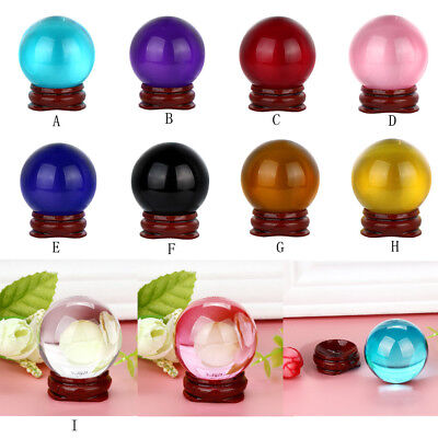 HOT !  40mm Natural Quartz Magic Crystal Ball Healing Ball Sphere And Stand US