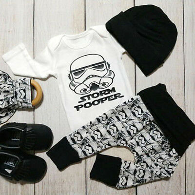 Newborn Baby Boys Star Wars Clothes Jumpsuit Romper Bodysuit Pants Outfit Set AU
