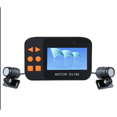 Motorcycle Driving Recorder 1080P Video DVR Camcorder 2 Objektiv Kamera