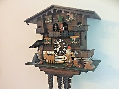Musical Cuckoo Clock Black Forest Automaton Spares Or Repairs