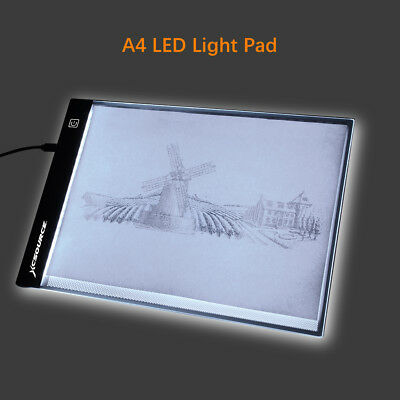 A4 LED Art Drawing Board Artist Slim Stencil Pad Tracing Tattoo Light Box XC701