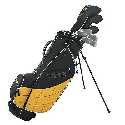 Wilson Ultra Men's Complete 13 Piece Right Handed Golf Club Set Stand Yellow