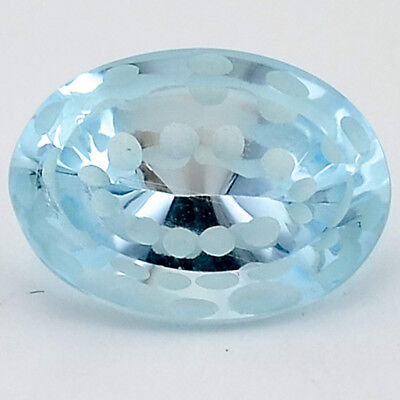 7 Ct AAA Natural Sky Blue Topaz Oval Shape 10X14x7 mm Cut Loose Gemstone