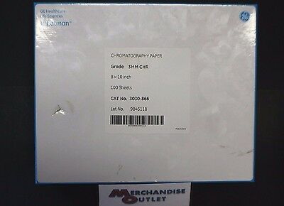 "GE Whatman Chromatography Paper 100 Count - 8x10"" 3030-866"