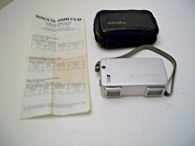 MINOLTA 16 MODEL II MINIATURE 16MM FILM CAMERA With Case