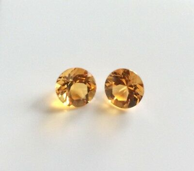 20 Pc Round Cut Shape Natural Citrine 3.7Mm Faceted Loose Gemstone