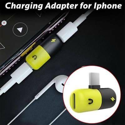 HOT 3in1 3.5mm Earphone Audio Jack and Charger Capsule Adapter for iPhone 7 8P
