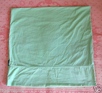Vtg 90s FRENCH CONNECTION~FCUK Large Square Continental Pillowcase Mint Green