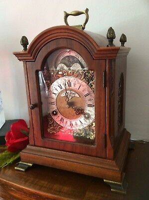 Moonphase Chiming Bracket Clock John Smith London. Fully Serviced