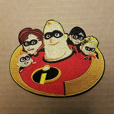The Incredibles Movie Characters Logo Patch 4 inches wide