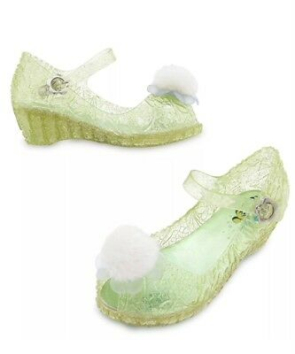 Disney Store Tinkerbell Fairy Glow in the Dark Costume Shoes Sz. 7/8 NWT