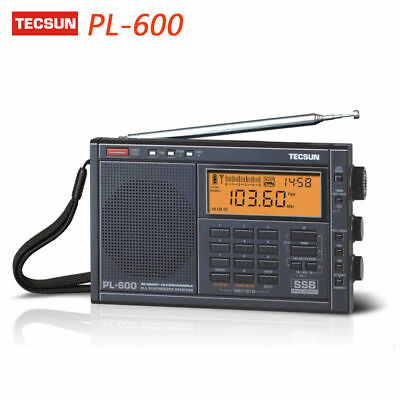TECSUN PL-600 Digital Tuning Full-Band FM Radio MW/SW-SBB/PLL Synthesized Stereo