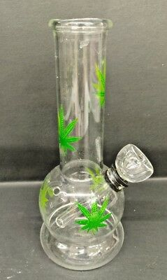 "Hookah Water Pipe Bong Glass 6"" inch ""MULTI - LEAF GREEN"""