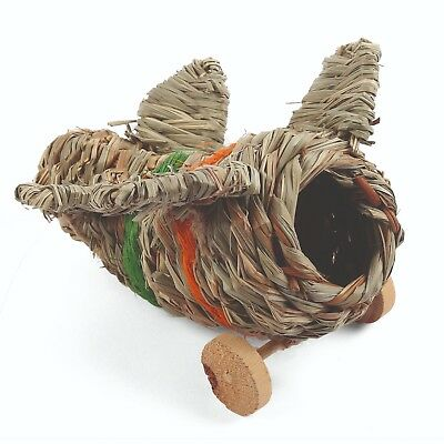 Nature First Aeroplane Hideaway Hamster Gerbil Mouse Bed Chew Play Toy Den