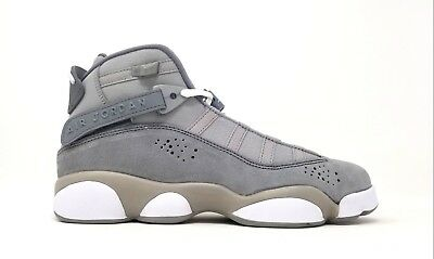 93101313665084 323419-014 Nike Gradeschool Jordan 6 Rings BG Matte Silver White-Cool Grey