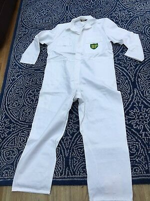 """Rare Find Goodwood Revival Classic Vintage Style BP Badged Overalls 46"""" Chest R"""