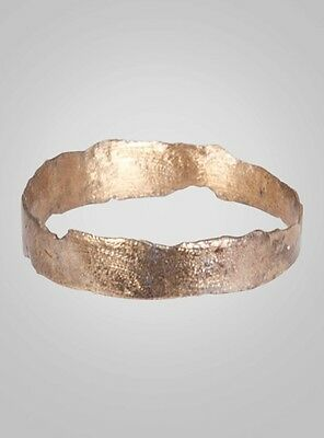 Ancient Viking  Wedding Band C.866-1067A.D. Size 7 1/2 (17.2mm)(BRR657)