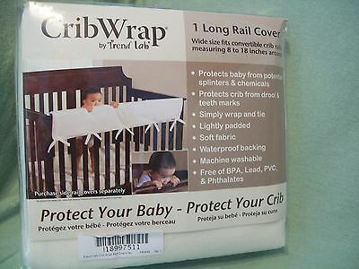 Trend Lab Crib Wrap Rail Guard for Long Rail, Natural Fleece, Wide