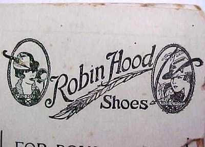 Antique Robin Hood Shoes Advertising Needle Case - DuBois Nebraska