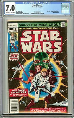Star Wars #1 CGC 7.0 OWT White Pages (1977) 1286078012