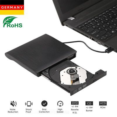 USB3.0 Externe DVD CD Blu-Ray Brenner Laufwerk Superdrive Player für PC Laptop