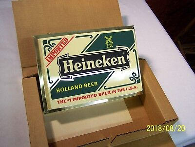 Vintage Heineken The #1 Imported Beer In The U.s.a. - Lighted Backbar Sign - New