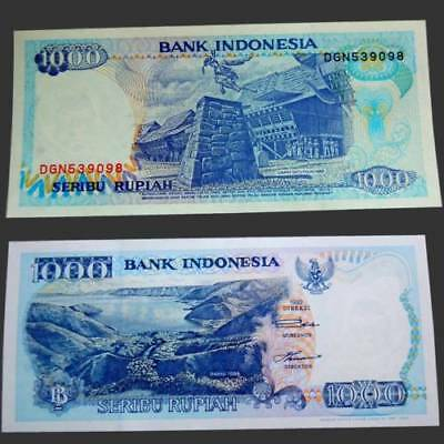 "PK 129a INDONESIA 1000 RUPIAH""LAKE TOBA""+""STONE JUMPING""SUPERB GEM UNC NEW!"