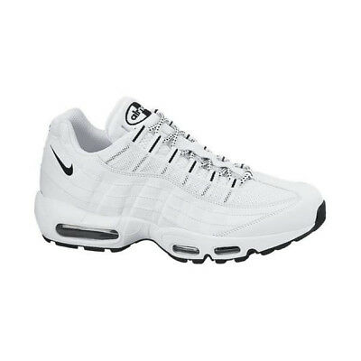 Nike Cuir Blanche 95 Max Taille Baskets Homme Air Chaussures Blanc shCtrQdx