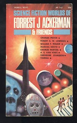 Science Fiction Worlds Of Forrest J Ackerman & Friends Powell PP 142 1st 1969 VG