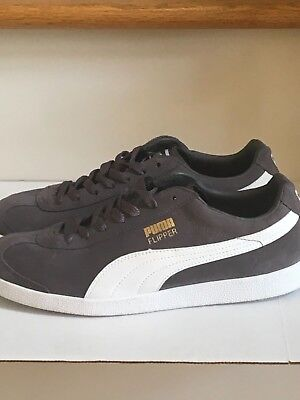 af62bfff44f7ff RARE WOMEN'S PUMA Gray & White FLIPPER SNEAKERS Casual Size 9.5 ...