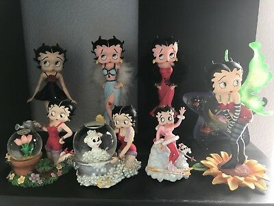 Betty Boop 8 Collectible Figurines! LOT ALL INCLUDED