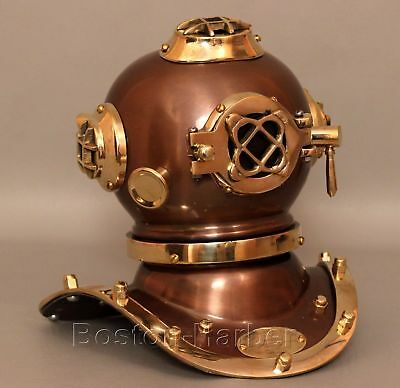 Vintage Style New Brass Steel Diving Divers Helmet Scuba Antique Deep Sea Gift