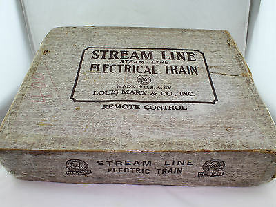 Louis Marx & Co. Stream Line Steam Type Electrical Train Set 35mm in OVP