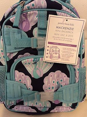 Pottery Barn Kids Mackenzie Mini Pre~School Backpack Aqua Lavender Peacock  NWT d085a44f220d7