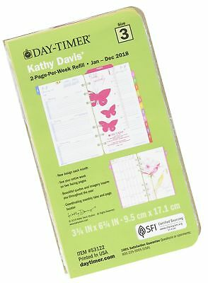 Day-Timer Two Page Per Week Planner Refill, January 2018 - December 2018, 3-3...