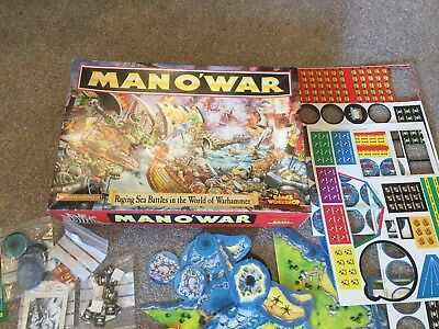 Man O War Game. OOP Games Workshop. Miniatures Game Incomplete