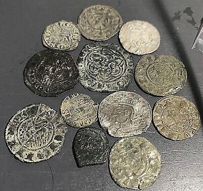 Cincin 19,Great  Very Nice Lot 12 Coins Spain, Medieval ,some rare coins