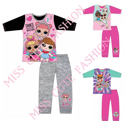 Kids Girls Pyjamas Set LOL Surprise Pjs Dance Dolls Swing Nightwear 4 -10 Years