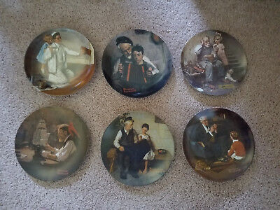Normal Rockwell Limited Edition Collectors Plates - All 6 Mint