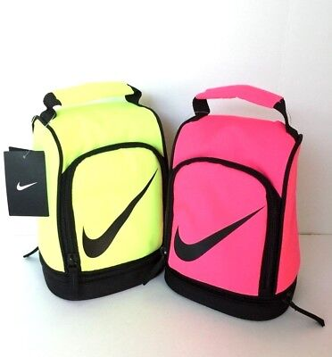 b84d3205ccfa NIKE DOME LUNCH Box Tote School Bag boy girl Insulated Volt or Pink ...